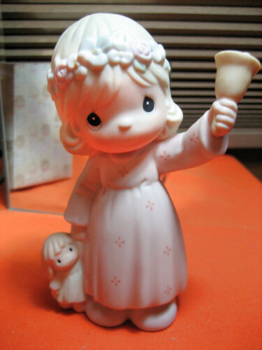Ring Out The Good News 529966 Precious Moments Porcelain Figure 1993 Butterfly