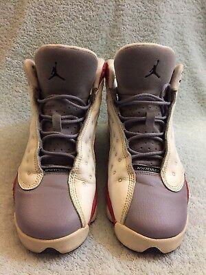 ef17b7d12135 Nike Air Jordan Retro 13 -414574 126 Grey Red White Sneakers 6.5Y