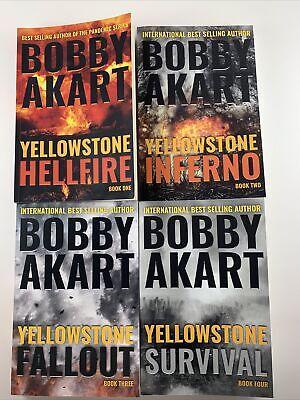 Bobby Akart Yellowstone Series Books 1-4 Hellfire Inferno Fallout Survival SHTF