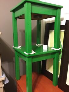 Green small side table set of 2