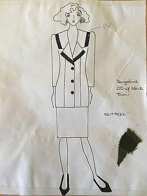 Vintage 80s 90s Pop Fashion Couture Pattern #627 Jacket~Macy's Clothing Line NY