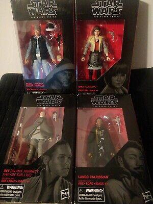 Star Wars Black Series 6-inch figures.Rebel Trooper,Rey,Landon Calrissian,Ql'RA