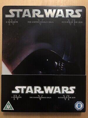 Star Wars - The Original Trilogy Steelbook (Blu-ray, 2013, 3-Disc Set, Box Set)