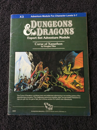 X3 CURSE OF XANATHON TSR 1982 DUNGEONS & DRAGONS ADVENTURE MODULE 9056