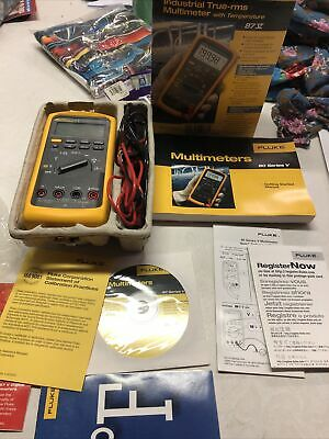 Fluke 87v 87-5 Industrial True-rms Multimeter W Temperature Mint In Box