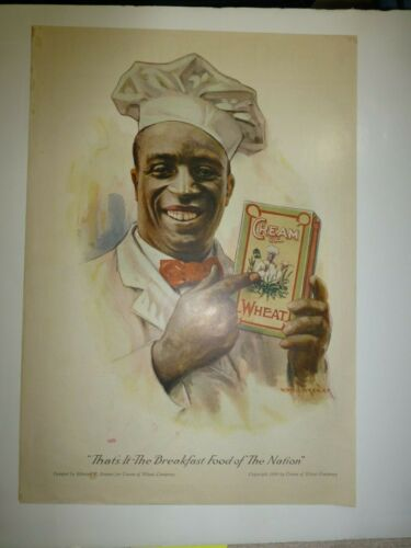 Collectible 1920 Full Size Cream Of Wheat Magazine Ad