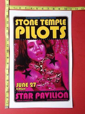 """STONE TEMPLE PILOTS,Concert Poster,11x17"""",June 27 ,STAR PAVILION"""