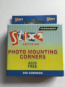 250 PHOTO MOUNTING CORNERS PERMANENT ALBUM SCRAPBOOK ADHESIVE BY STIX2 S57072