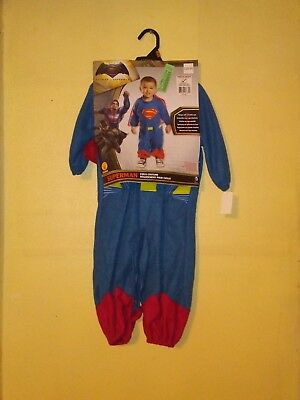 Halloween Costume Superman Toddler Size 2/4 Romper With Removeable - Superman Toddler Halloween Costumes