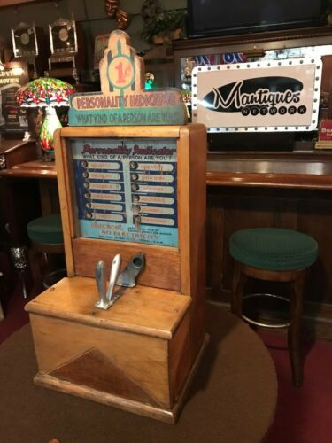"1934 Arcade Game ""PERSONALITY LOVE TESTER"" by EXHIBIT SUPPLY Co. ""Watch Video"""