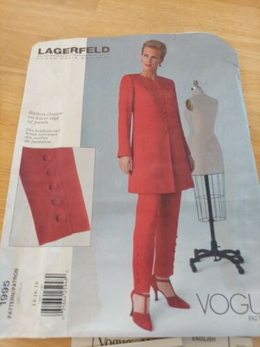 40/% OFF 1991 Designer Menswear Inspired Jacket and Trousers Pattern  VOGUE 2697  Vogue Designer Original  MONTANA    Uncut Factory-Folded