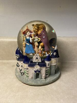 """Vintage Disney's Beauty and the Beast """"Tale As Old As Time"""" Musical Snow Globe"""