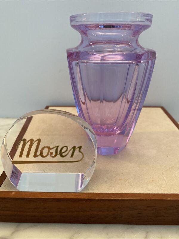 NEW Moser Alexandrit / Alexandrite Eternity Vase Signed Purple Amethyst Crystal