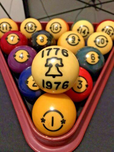 Rare Hyatt Limited Edition Bicentennial Billiard Balls - Excellent Condition !