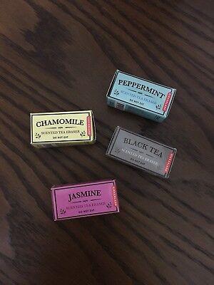 Kikkerland Tea Scented Erasers Set Of 4 NWB - Scented Erasers