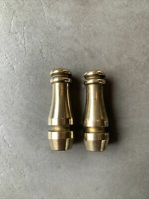 Pair Of Vintage Brass Curtain Pulls Knobs Light Switch Weight