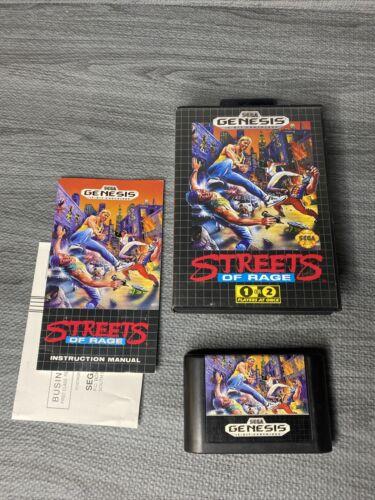 Sega Genesis, Streets Of Rage Original Retail Game Cartridge W Box Nice Label - $42.99