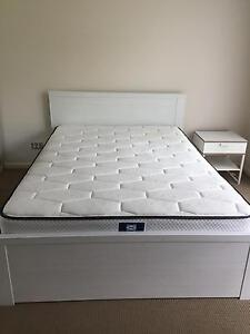 Double size bed frame & side table for sale $200 Merrimac Gold Coast City Preview
