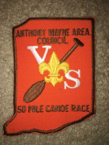 Boy Scout Anthony Wayne Area Varsity 50 Mile Canoe Council Indiana Shape Patch