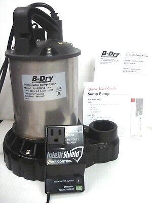 B-dry 12 Hp Submersible Sump Pump Probe Switch High Water Alarm B-dry50-01 Nib