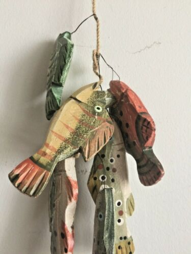Stringer Full of Fish Wall Decor Cabin and Lake house Man Cave Fisherman