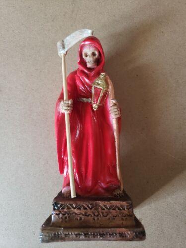 "SANTA MUERTE BENDESIDA RED 7"" HOLY DEATH FIX/ GRIM REAPER / BUENA SUERTE/ FIX"