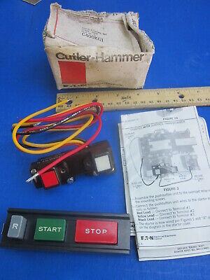 Cutler Hammer New C400kg1 Cover Control Kit Start-stop Size 00-5 Multiple Nib