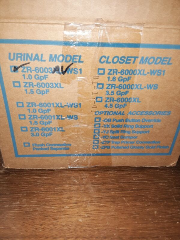Zurn ZR6003AV URINAL FLUSH VALVE--NOS--OPEN BOX..
