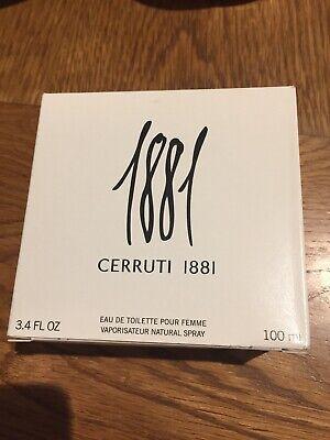 CERRUTI 1881 Eau De Toilette Pour Femme 100ml Natural Spray Perfume For Her