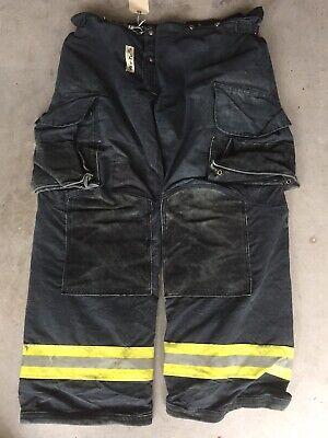 Firefighter Janesville Lion Apparel Turnout Bunker Pants 46x34 07 Black Costume