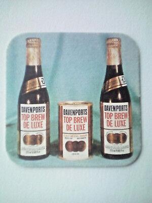 Vintage  DAVENPORTS TOP BREW DELUXE - Cat No'34 Beermat / Coaster