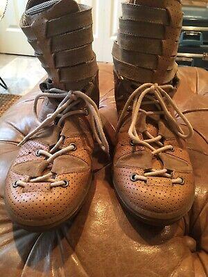 bernhard willhelm Rambaramb Sneakers Campers 42 9 Tan Brown Men Hike Rare Vtg