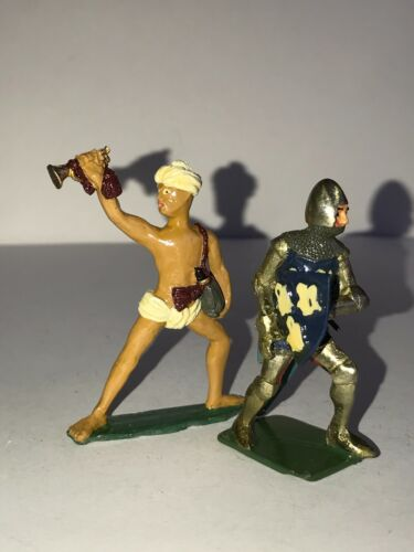 Lead soldier knight middle ages-lead soldier medieval warriors 2 pcs