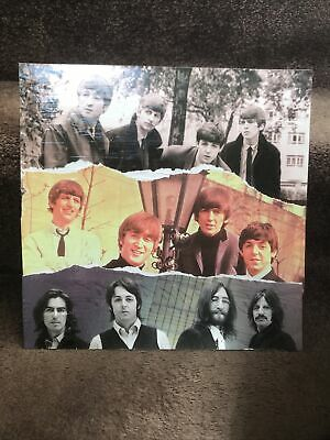THE BEATLES Original Collage Varnished 12x12 Masonite Pop Art Lennon McCartney