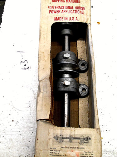 Chicago Die Casting Buffing Mandrel 330 Bronze Bearings NEW  NOS   Made in USA!!