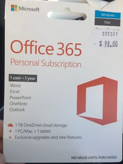 Office 365 subscription - not used!