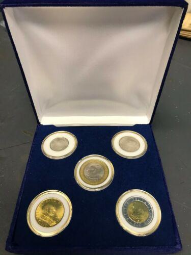 Vatican City 2001 5 Coin UNC Set 1000 Lire 500 Lire 200 Lire 100 Lire 50 Lire