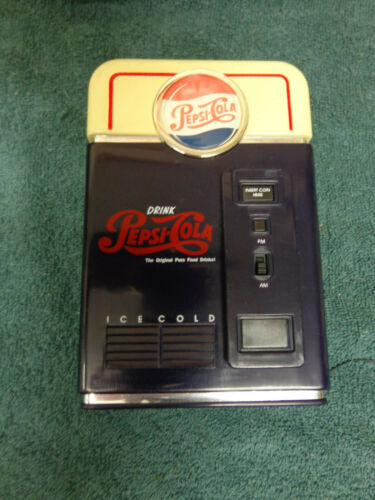 PEPSI VENDING MACHINE AM/FM RADIO NEVER USED