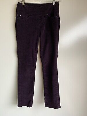 "JAG JEANS High Rise SKINNY Purple Pull-On Crop CORDUROY PANTS Size 0 x 26.5""L for sale  Shipping to Canada"