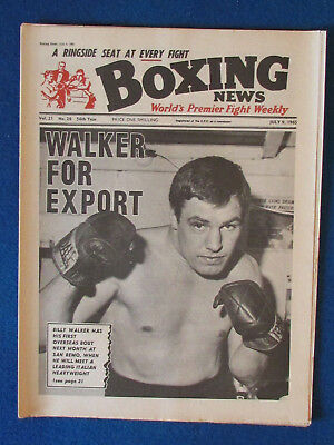 Boxing News Magazine   9 7 65   Billy Walker Cover
