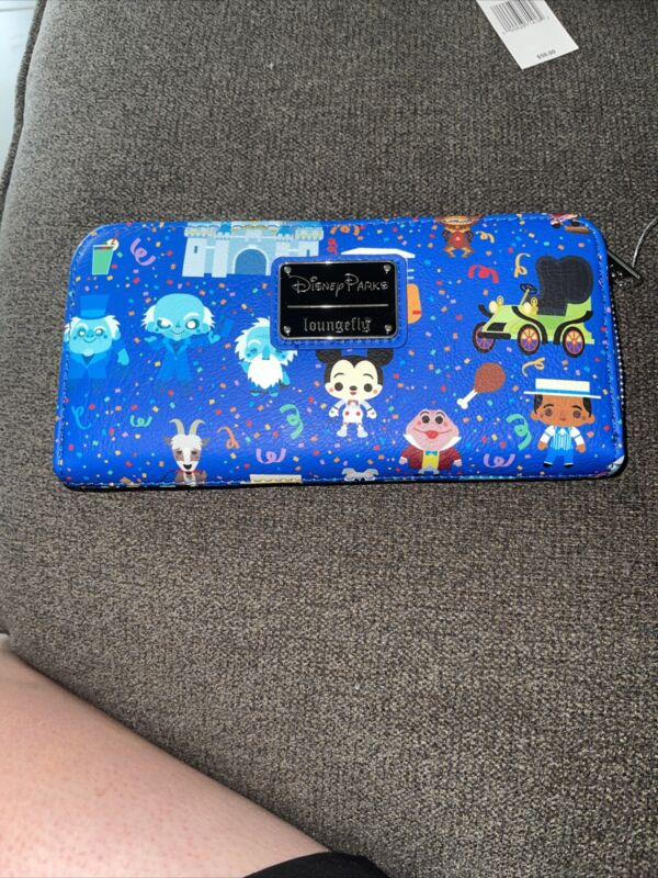 2021 Disney Parks Collage Icons Attractions Wallet Loungefly EXACT PRINT #61