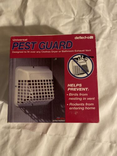 """Deflecto Universal Bird Guard, Fits 3"""" to 4"""" Vents, White"""