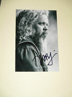 Sons Of Anarchy Mark Boone Junior Signed 4X6 Photo Bobby Autograph 1C