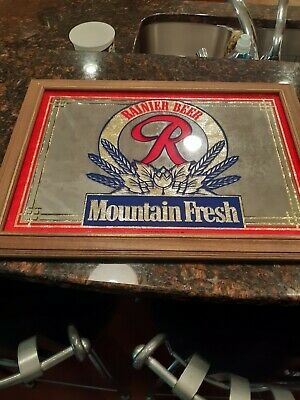 Rainier Beer Mountain Fresh Beer mirror - Seattle WA