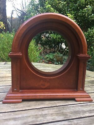 Mantel Mantle Arch Wood Clock For Spares, Parts or Repair