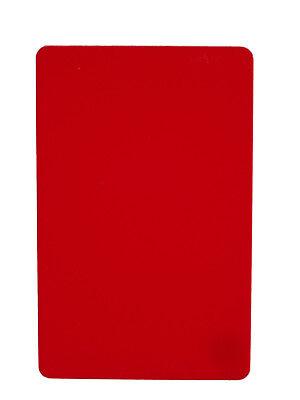 Zebra Plastikkarte Drucker (100 Plastikkarten rot, Kartendrucker, Plastikkartendrucker, PVC Karten, Zebra)