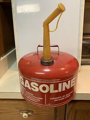 Chilton 2 12 Gallon Round Heavy Gauge Steel Gas Can Wair Vent