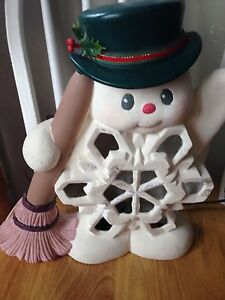 Ceramic snowman lamp  Kitchener / Waterloo Kitchener Area image 2
