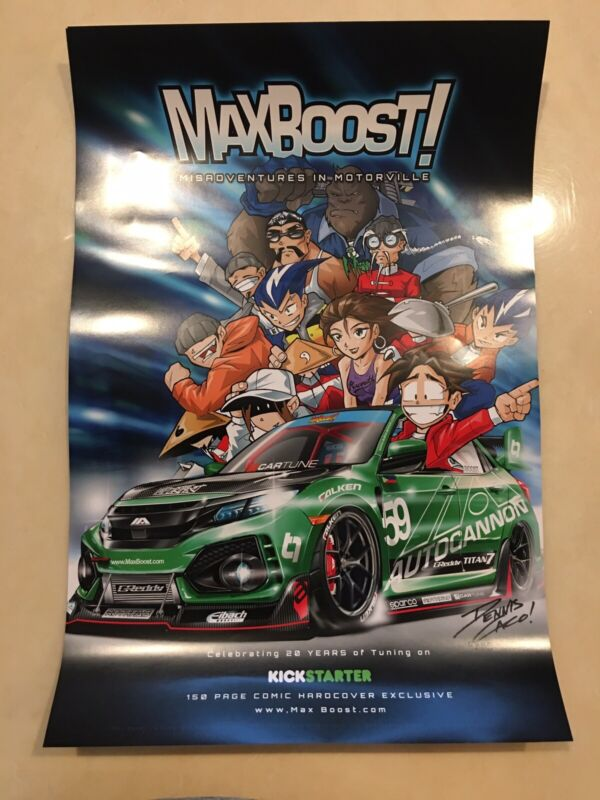 Max boost Poster Import Tuning Honda TRD Sparco Mugen Nismo JDM Racing HKS