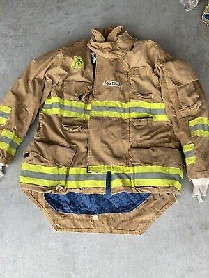 Firefighter Honeywell Morning Pride Turnout Bunker Coat 46 Chest X 34 Length Use